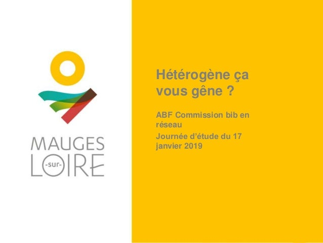 Hétérogène ça vous gêne ? ABF Commission bib en réseau Journée d'étude du 17 janvier 2019