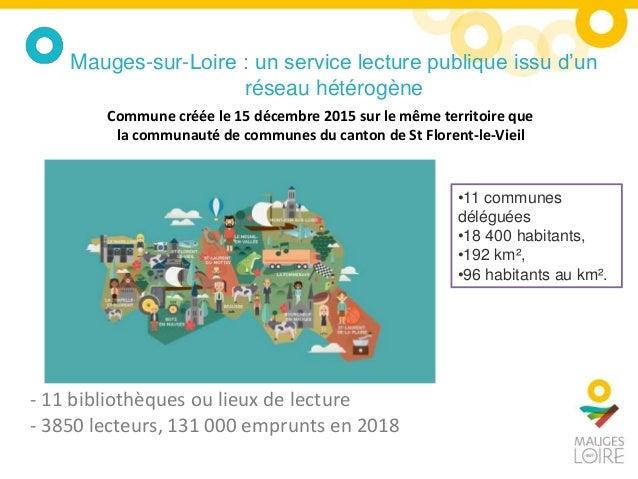 - 11 bibliothèques ou lieux de lecture - 3850 lecteurs, 131 000 emprunts en 2018 Mauges-sur-Loire : un service lecture pub...