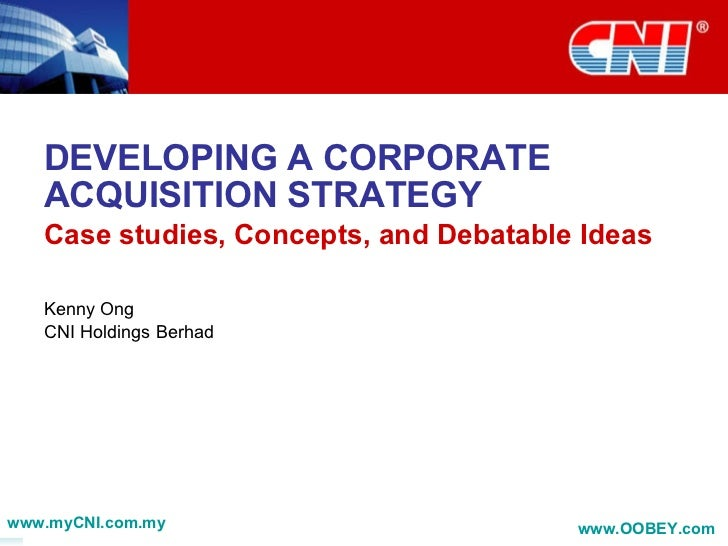 Corporate Acquisition Strategy