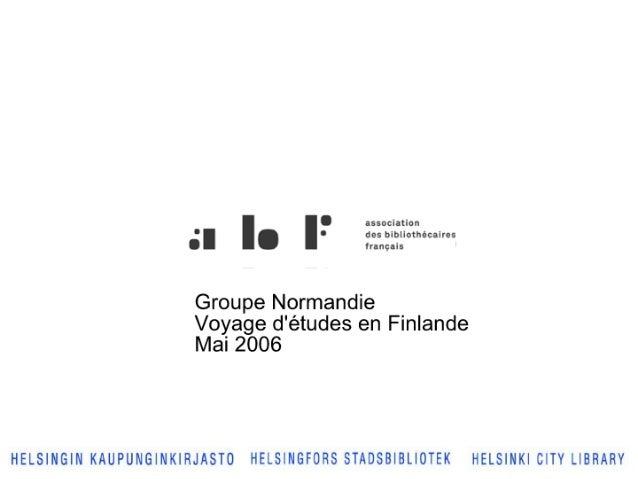 Abf Normandie 2006 Finlande