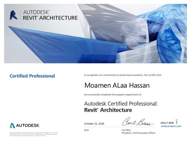 Revit Architecture certification