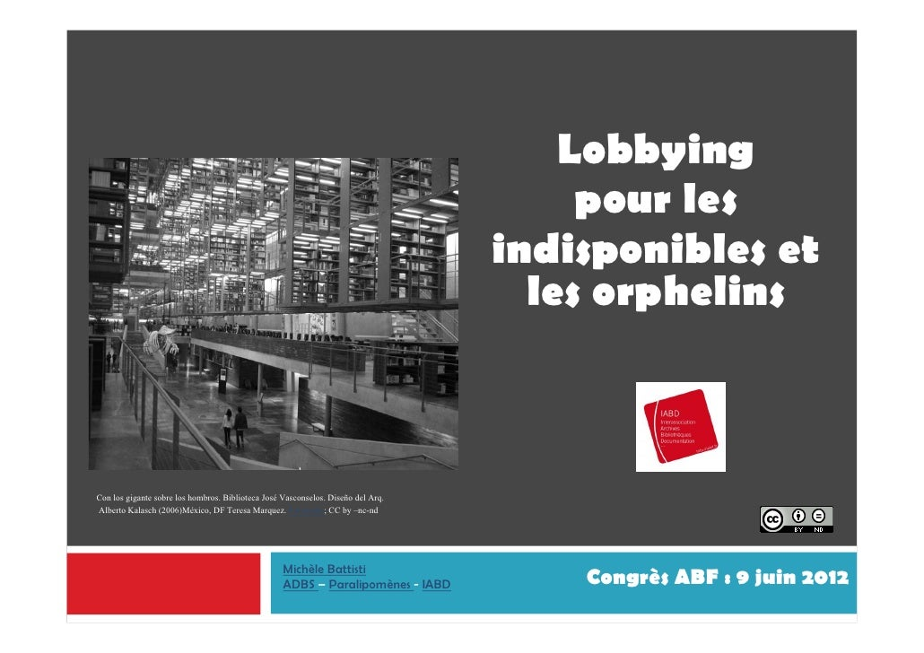 Lobbying                                                                                       pour les                   ...