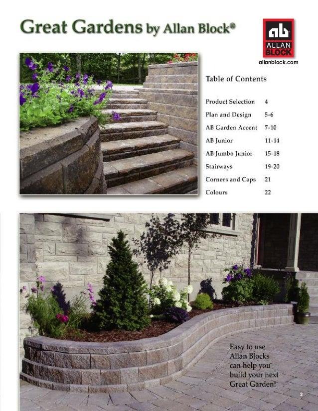 stone works canada alan block garden walls install catalog