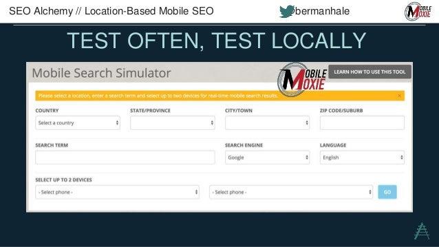 MOBILE DATA IN GSC SEO Alchemy // Location-Based Mobile SEO @bermanhale