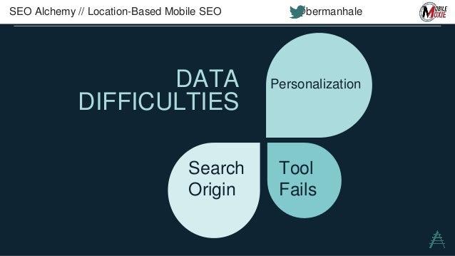 MOBILE DATA IN ANALYTICS SEO Alchemy // Location-Based Mobile SEO @bermanhale