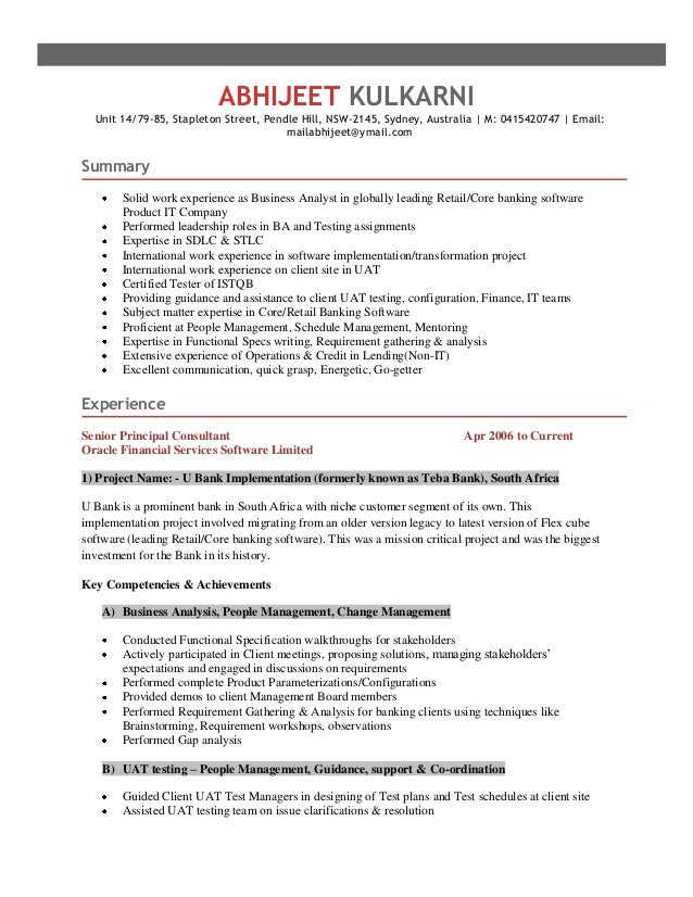 abhijeet resume - Test Analyst Sample Resume