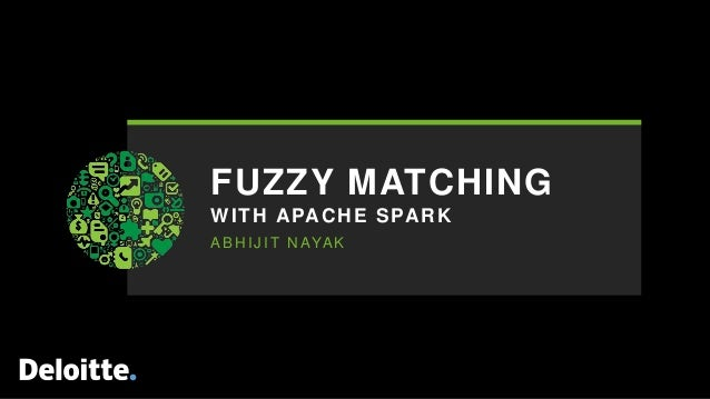 Fuzzy Matching with Apache Spark