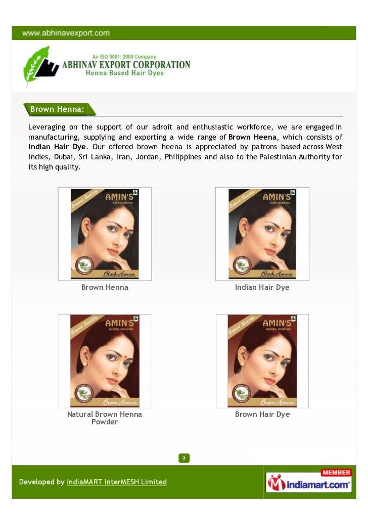 54f46dd2a Abhinav Export Corporation, Chennai, Henna Hair Dyes