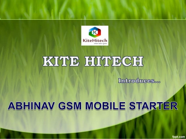 Product Introduction ABHINAV motor starter is automated Mobile GSM starter It can be used for operation ON/OFF of motor Wi...