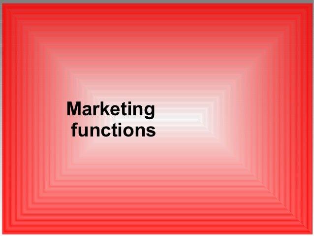 Marketingfunctions