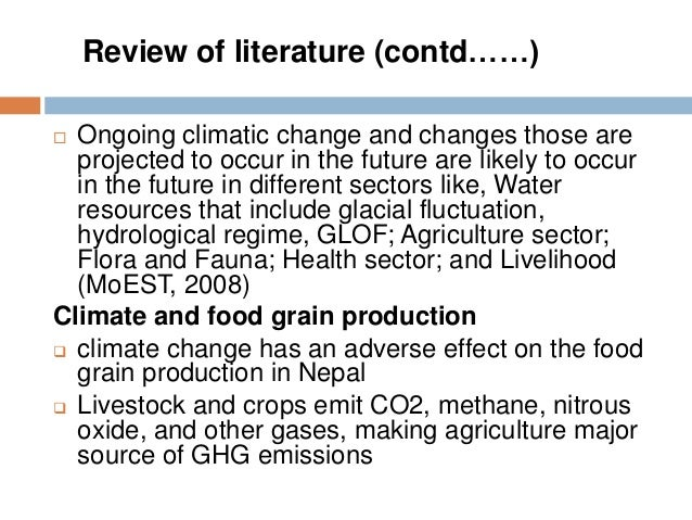 Literature review methane