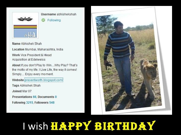 I wish  Happy Birthday
