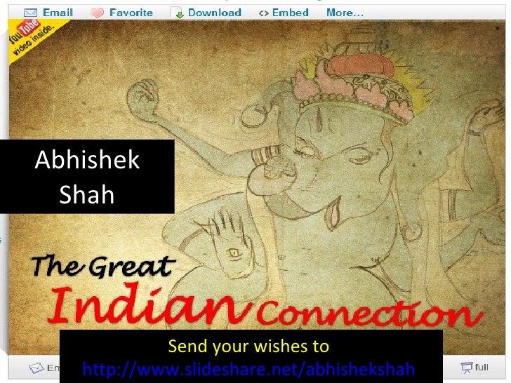 Abhishek Shah Send your wishes to  http://www.slideshare.net/abhishekshah