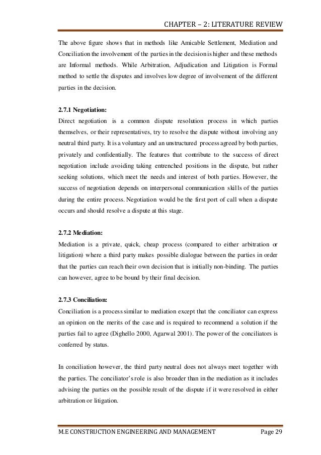 STUDY OF CONSTRUCTION DISPUTES & IT's RESOLUTION THROUGH ARBITRATION …