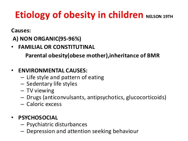 Causes of obesity in children