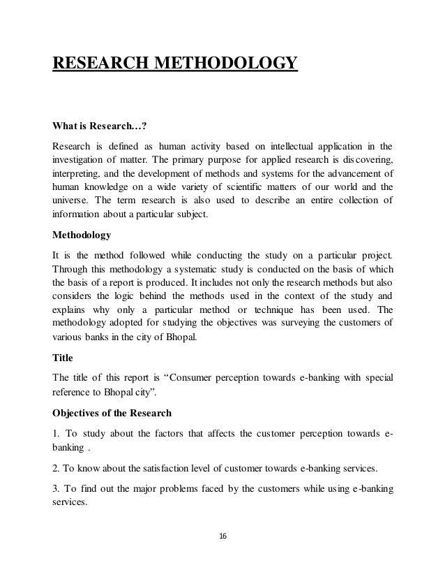 Dissertation electronic banking