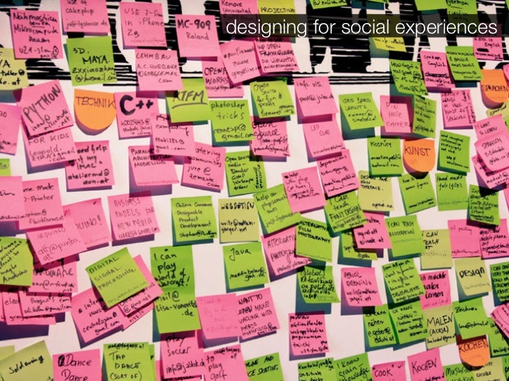designing for social experiences