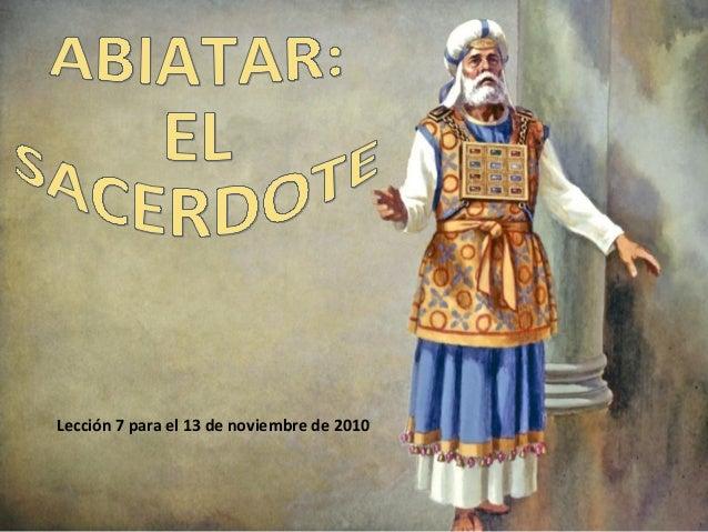 Lección 7 para el 13 de noviembre de 2010