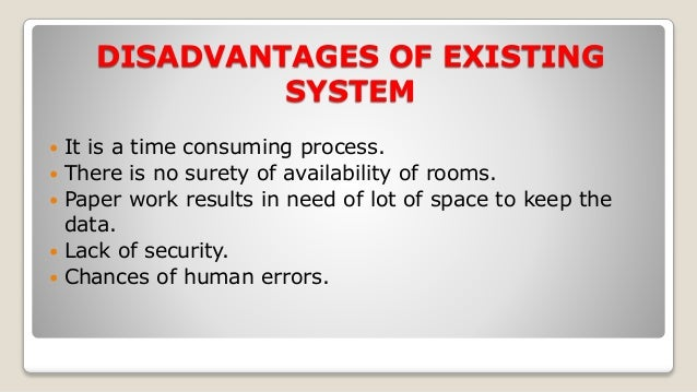 problems of existing manual system in hotel reservation A computer reservation system or central reservation system (crs) is a computerized system used to store and retrieve information and conduct transactions related to air travel, hotels, car rental, or other activities.