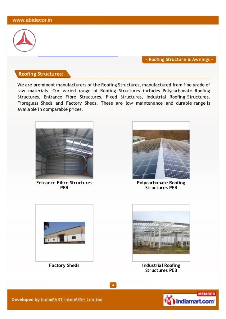 Abi Decor Chennai Roofing Structure Awnings