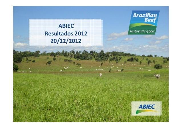 ABIECResultados 2012  20/12/2012