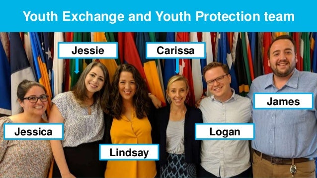 ROTARY YOUTH EXCHANGE   3 Youth Exchange and Youth Protection team Jessie Jessica Carissa Logan James Lindsay