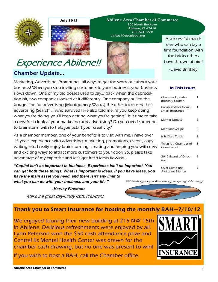 July 2012                Abilene Area Chamber of Commerce                                                                 ...