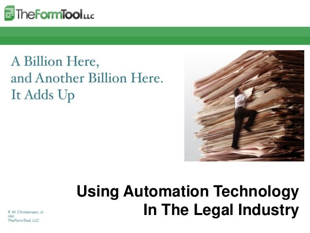 Using Automation Technology  In The Legal Industry
