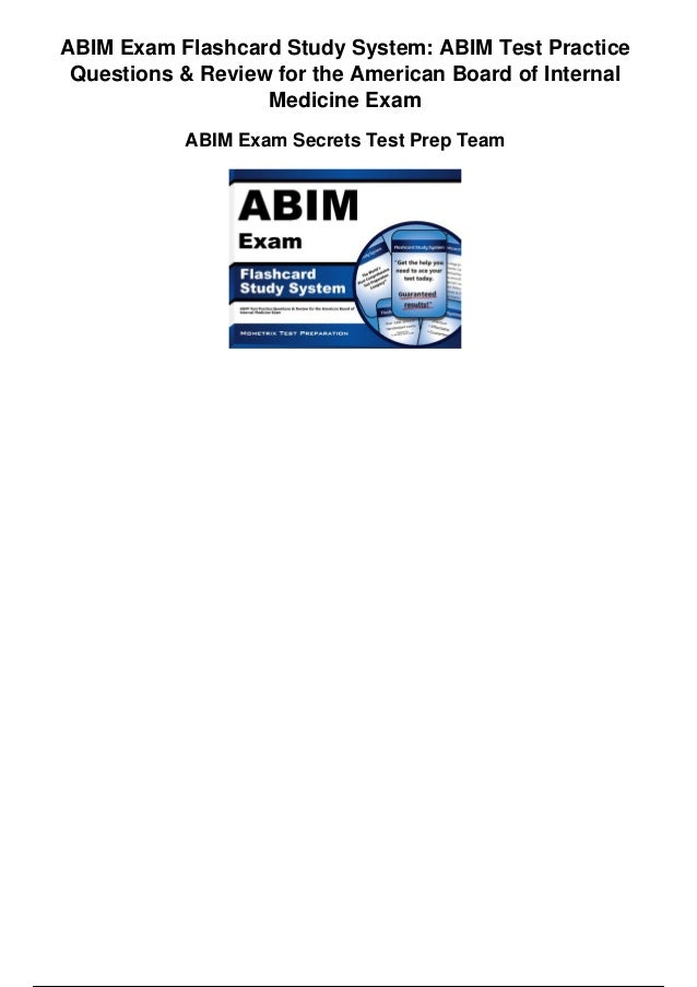 Abim exam flashcard study system abim test practice questions and rev…