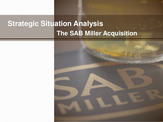 strategic position of sabmiller Sabmiller and anadolu efes last week announced a strategic alliance with focus on the russian and ukrainian beer markets reading into the alliance it appears to be more than an alliance where two partners team up to achieve something they can't easily achieve alone.