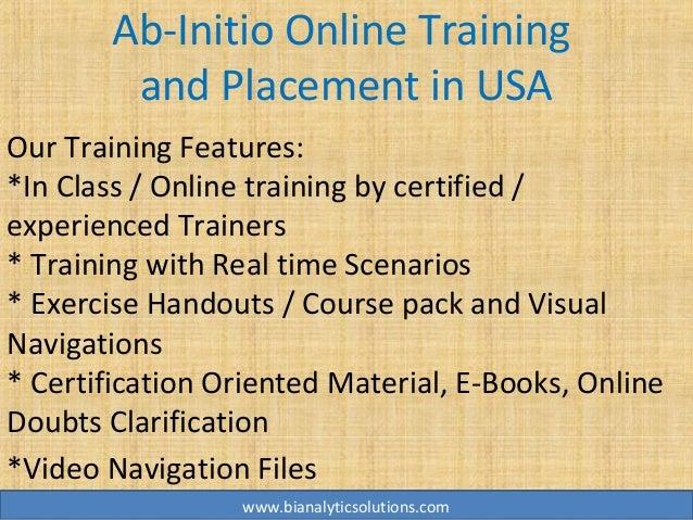 ab initio online training  ab initio training  ab initio
