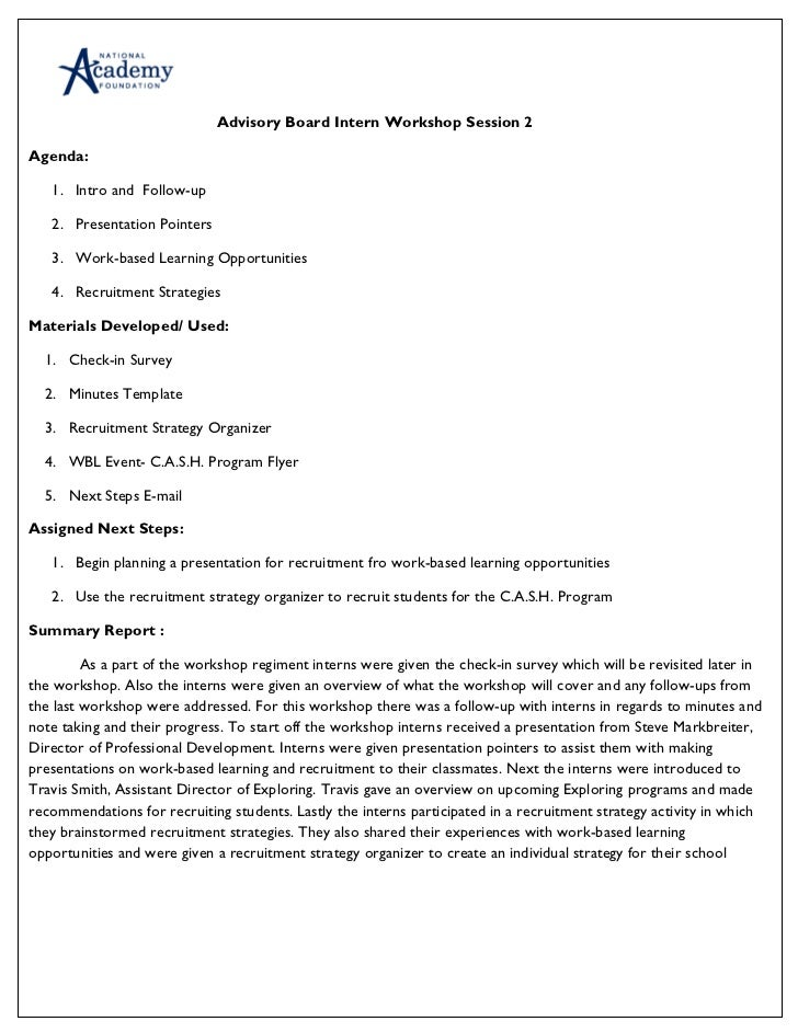 Sample training agenda template
