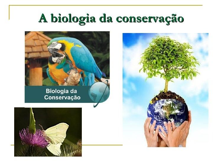 A biologia da conservação