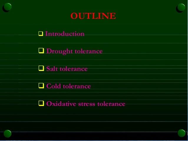 Abiotic stress resistance @ sid Slide 2