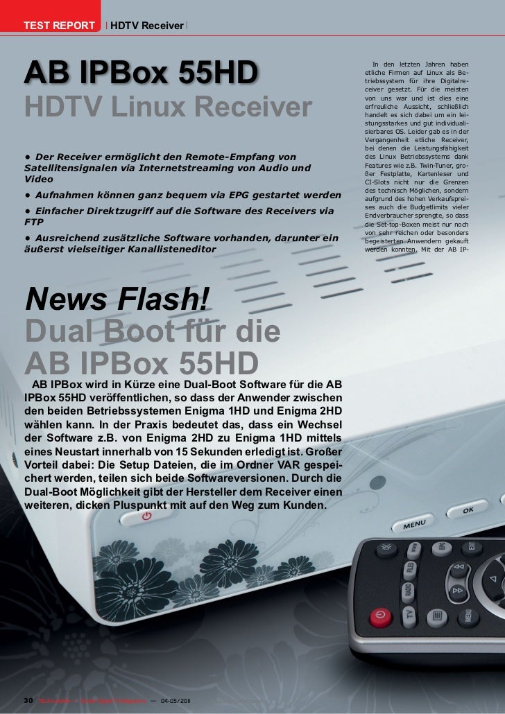 TEST REPORT                   HDTV ReceiverAB IPBox 55HD                                                                  ...