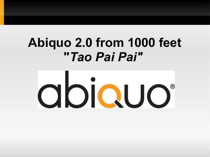 "Abiquo 2.0 from 1000 feet     ""Tao Pai Pai"""