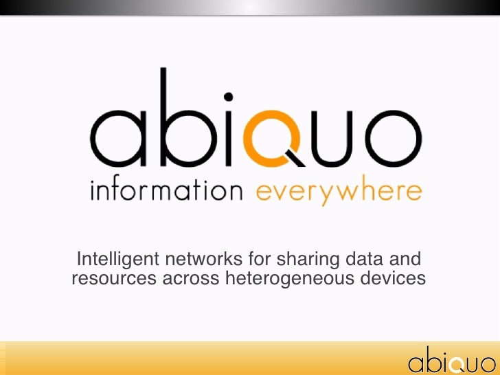 Intelligent networks for sharing data and resources across heterogeneous devices
