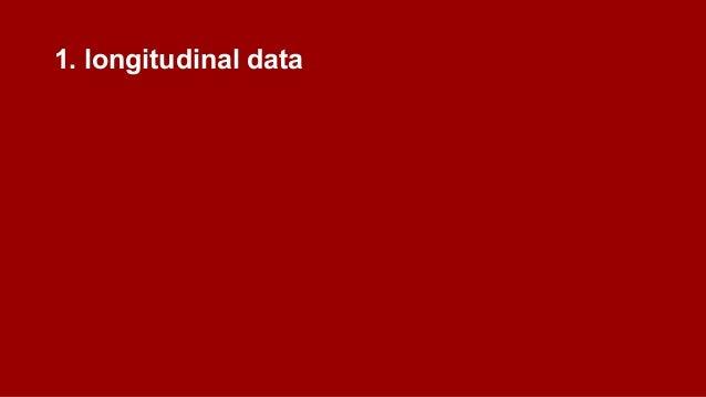 1. longitudinal data