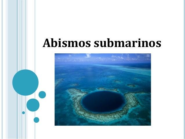 Abismos submarinos