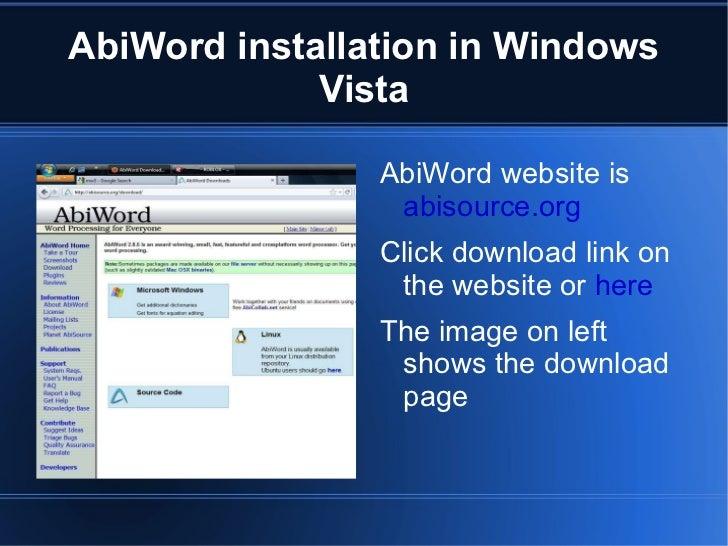 AbiWord (free) download Windows version