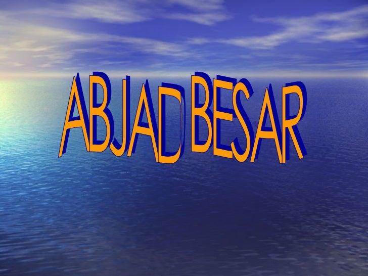 ABJAD BESAR