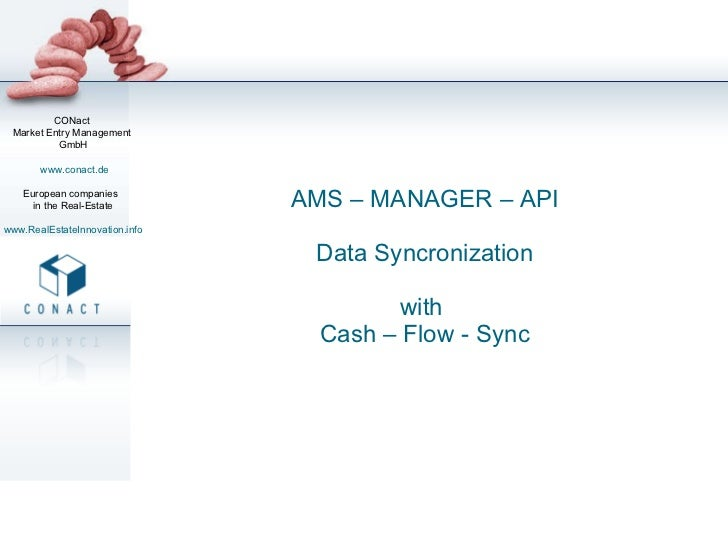 AMS – MANAGER – API Data Syncronization with  Cash – Flow - Sync 12.05.11 12.05.11
