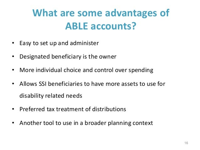 Able Accounts Offer New Choice For >> Achieving A Better Life Experience Able Act Webinar