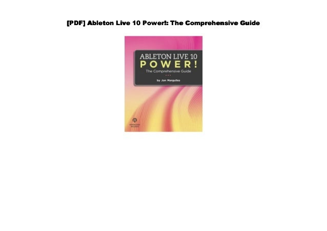 Pdf Ableton Live 10 Power The Comprehensive Guide 3 which one does she prefer? pdf ableton live 10 power the