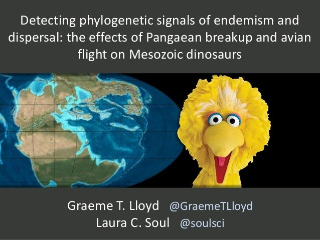 Detecting phylogenetic signals of endemism and dispersal: the effects of Pangaean breakup and avian flight on Mesozoic din...