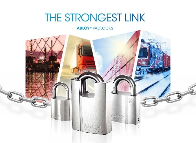 the strongest link Abloy® Padlocks