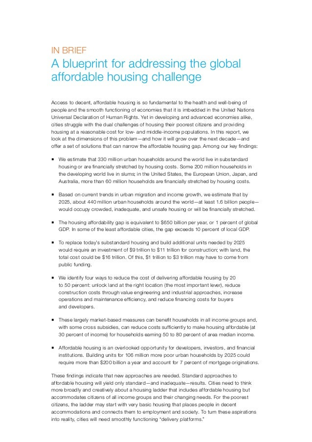 Mckinsey global institute a blueprint for addressing the global aff 8 affordable housing is defined malvernweather Gallery
