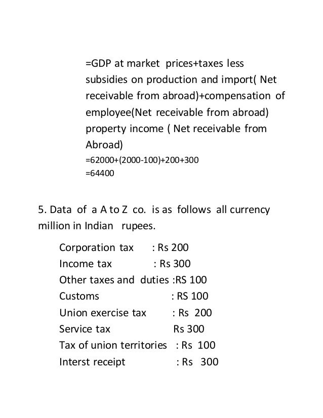 national income gdp exercise Lesson 3 - national income accounting gross domestic product (gdp) is the international standard for measuring the economic output and growth of countries.