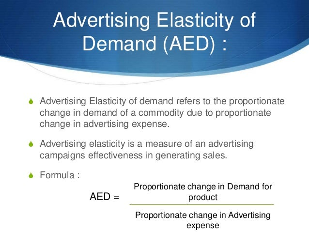 importance of advertising elasticity of demand