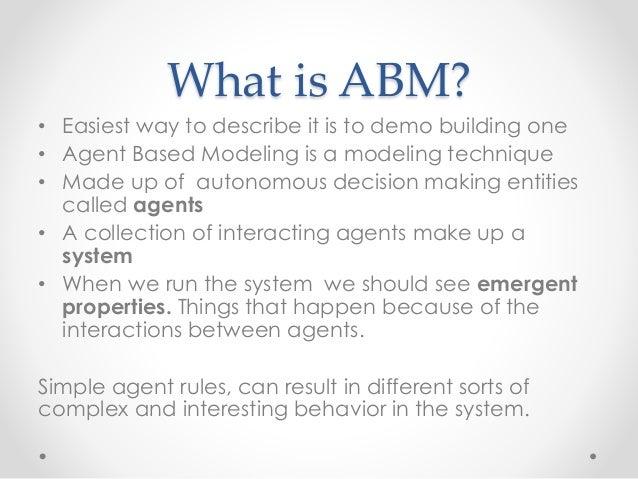 Agent Based Models